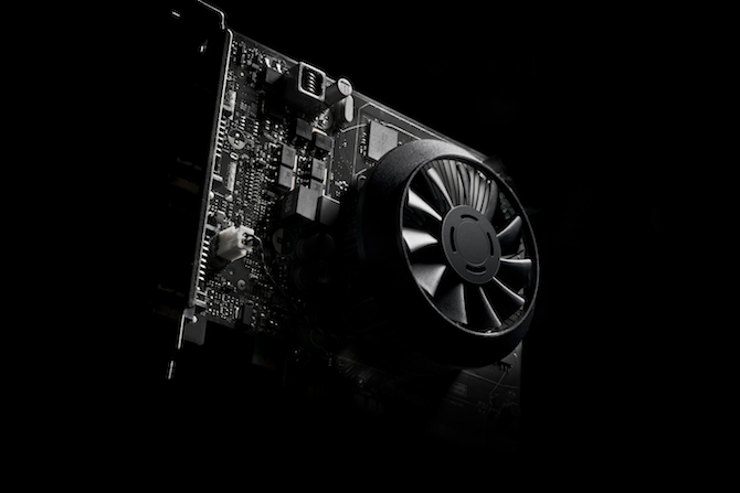 Inner view of the GeForce GTX 750 graphics card