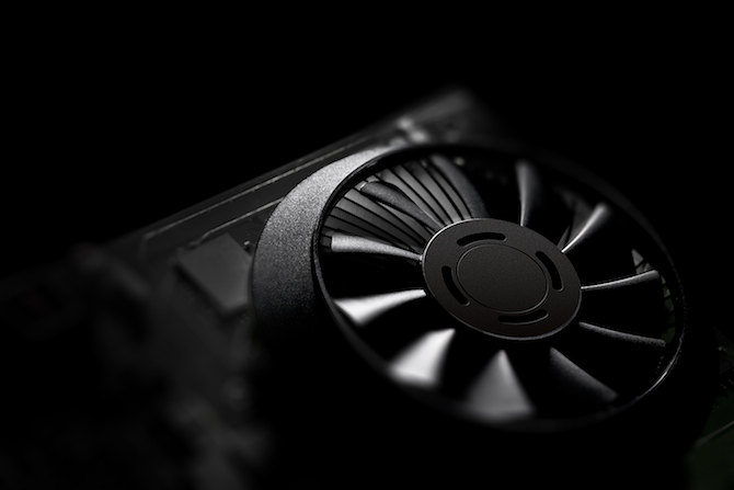 Fan detail on the GeForce GTX 750 Ti graphics card