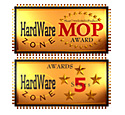 Hardwarezone 5 stars award and Most Overclockable Product award